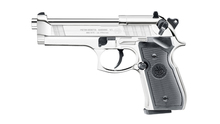 Photo Pistolet CO2 Beretta M92 FS silver full metal cal. 4.5 mm