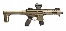 Photo Rifle Sig Sauer MPX Co2 4.5mm Leads + Red Dot Sig 20R