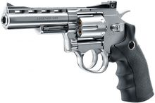 Photo Revolver CO2 Legends S40 4'' chromé cal. 4,5 mm