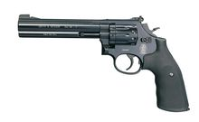 Photo Revolver CO2 Smith & Wesson Mod 586 noir 6'' BB's cal. 4,5 mm
