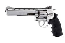 Photo Revolver CO2 Black Ops 6'' silver BB's cal. 4,5 mm