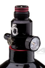 Ninja Kevlar bottle 1. 1l Black with ultralite regulator 4500 psi