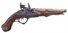 Decorative replica Denix of French pistol with 2 barrels 1806