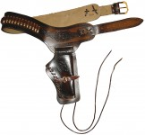 Photo Girdle with holster for Western revolver