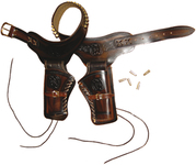 Girdle with two holsters for Western revolver