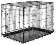 Folding dog transport cages