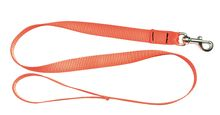 Laisse 1,20 m sangle orange fluo pour chien - Country