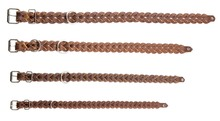 Braided full grain leather dog collars - Country Saddlery