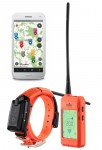 Photo Appareil et collier GPS DogTrace X30T  orange fluo