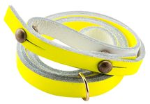 Photo Necklace for fluorescent yellow horn - Elless