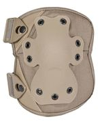 Pair of adjustable kneepads tan