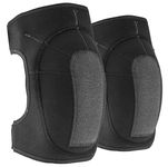 Black neoprene knee pads