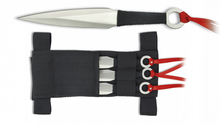 Set of 3 throwing knives with ribbon