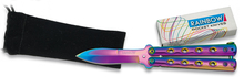 Small butterfly knife rainbow