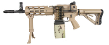 Photo Réplique AEG CM16 LMG Mosfet et E.T.U.Tan 1,2J