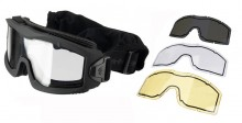Airsoft Mask AERO Series Thermal black 3 lenses