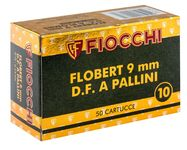 Flobert 9 mm cartridges with lead shot