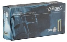 Box of 50 cartridges cal. 9 mm PAK to white