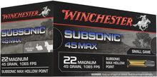 Munitions Subsonic 45 Max cal. 22 Magnum