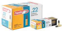 Cartridges 22 LR Aguila Solid Point SubsonicCartridges 22 LR Aguila Solid Point Subsonic