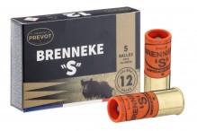 Prevot bullet cartridge BRENNEKE '' S '' half-shielded - Cal. 12/70