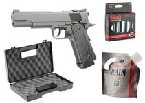 Pack 1911 GBB CO2 + mallette + silencieux + adaptateur + CO2