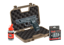 Photo Pack Airgun Bersa Thunder 9 pro 1,9J + mallette + billes 4,5 + Co2 - ASG