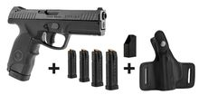 Photo Pack pistolet semi-auto Steyr Mannlicher L9-A1 + chargette + 4 chargeurs + holster