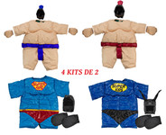 SUMO Fighter - Pack of 4 SUMO kits (1 child / 1 teen / 1 adult / 1 child superhero)
