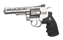 Dan wesson silver 4 '' Co2 revolver replica