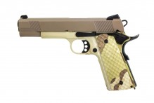 Photo Réplique GBB 1911 MEU Raven full metal Hydro Camo / tan 1,0J