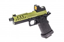 GBB Gas Hi-Capa 4.3 Black / OD 0,9J + BDS red-dot