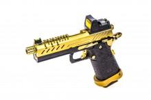 GBB Gas Hi-Capa 4.3 Black / Gold 0,9J + BDS red-dot