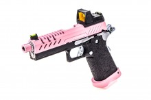 GBB Gas Hi-Capa 4.3 Black / Pink 0,9J + BDS red-dot