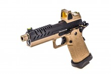 GBB Gas Hi-Capa 4.3 Tan / Noir 0,9J + BDS red-dot