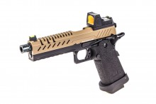 GBB Gas Hi-Capa 5.1 Black / Tan 1,0J + BDS red-dot