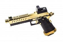 GBB Gas Hi-Capa 5.1 Black / Gold 1,0J + BDS red-dot