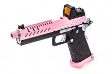 GBB Gas Hi-Capa 5.1 Black / Pink 1,0J + BDS red-dot