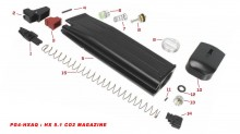 Original spare parts for HX series CO2 magazine