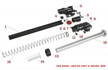 Original spare parts for HX series Hop-up unit & recoil rod