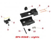 Original spare parts for HX serie front and rear sights