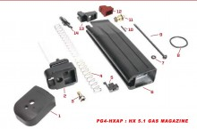 Original spare parts for HX series Gas magazine