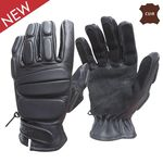 Swat leather gloves new design