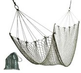 Mini lightweight hammock in green mesh