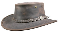 Photo Chapeau Bronco marron - Barmah Hats