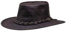 Squashy Hat '' Kangaroo '' dark brown