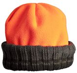 Photo Bonnet Bob Polarfleece réversible vert orange
