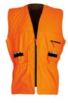 Neon orange quilted tracking vest