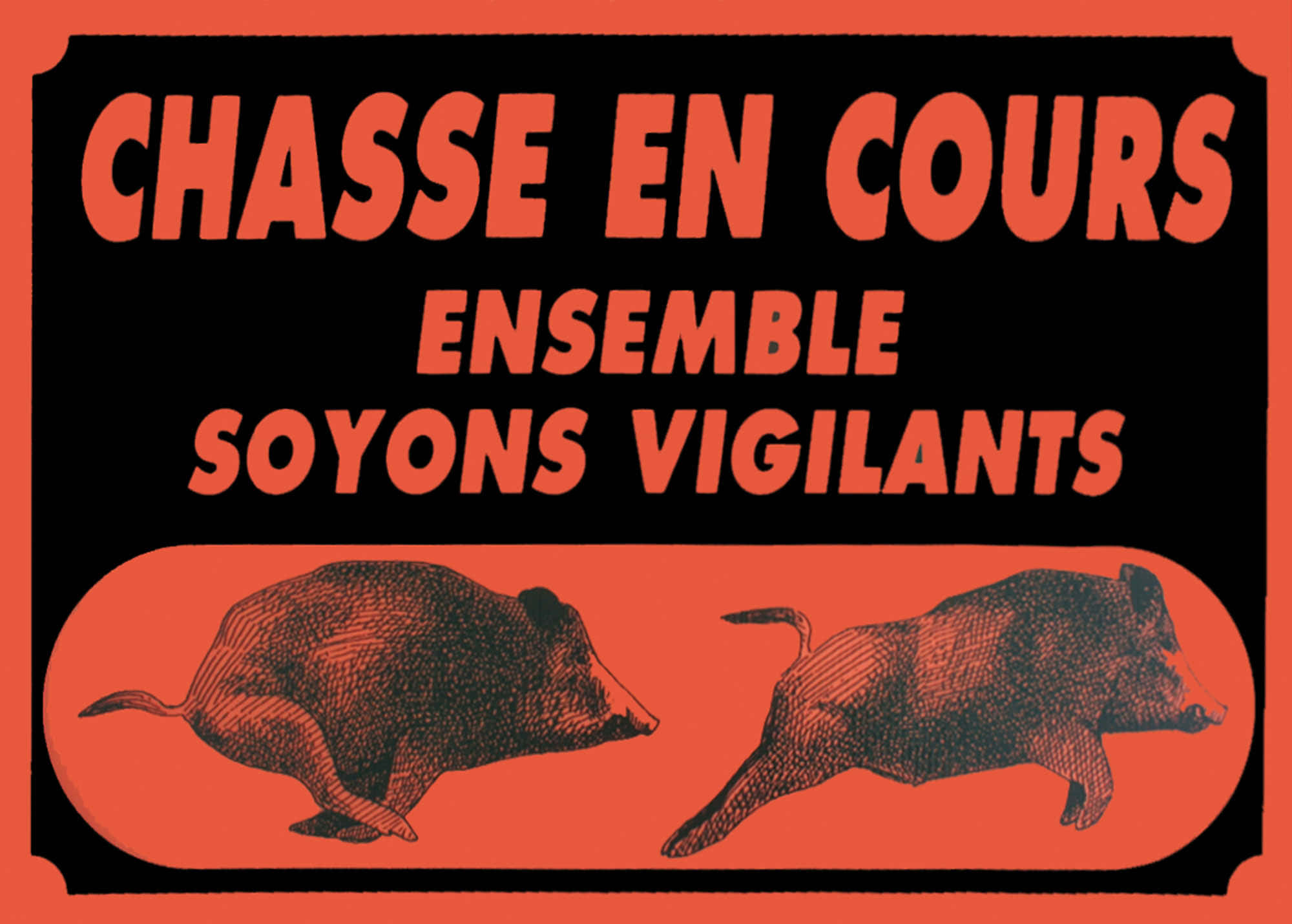 A50810-ATTENTION CHASSE EN COURS - A50810