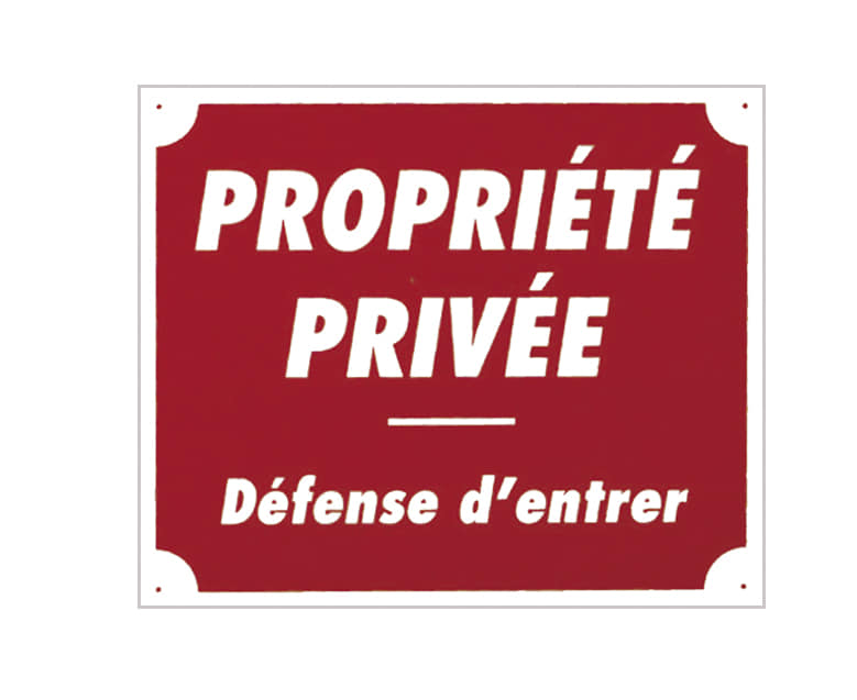 A50851-PROPRIETE PRIVEE DEFENSE... - A50851